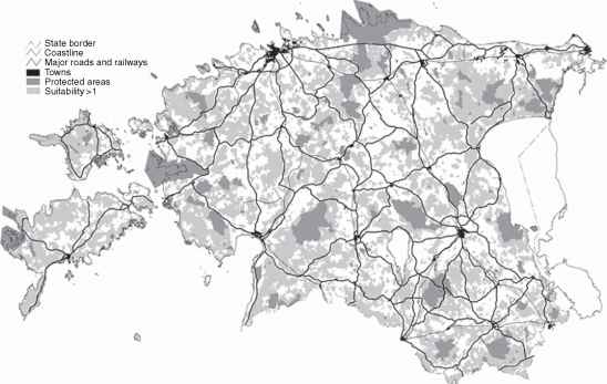 Figure 5 Example Of The Ecological Network Of Estonia At The National Level Protected Areas And Areas Not Protected But Suitable For An Ecological Network